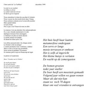 jaarbrief 1999